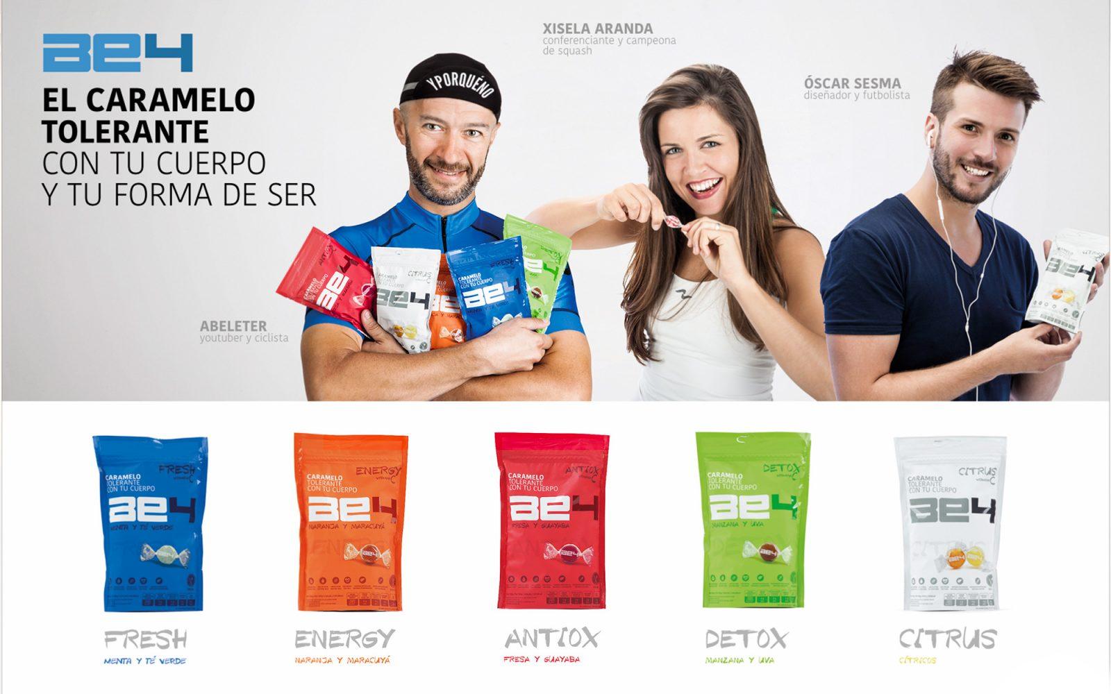 Marca y web para Caramelos BE4 de El Caserío de Tafalla