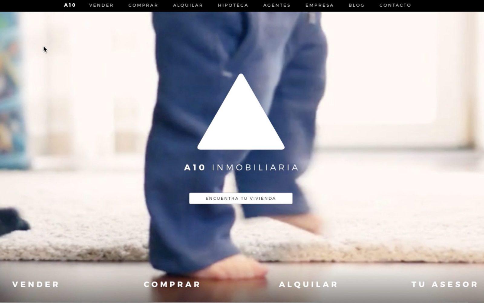 Marca y web para A10 Inmobiliaria