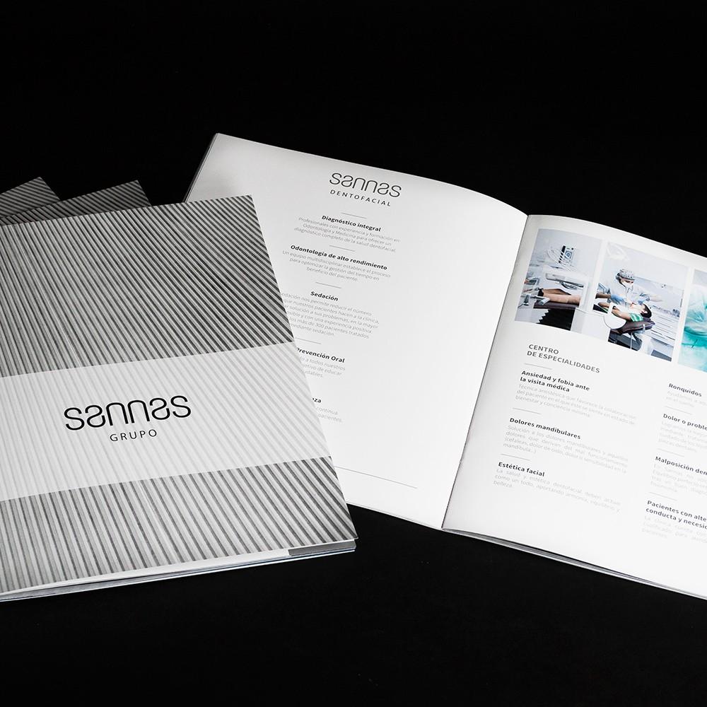 Marca y papelería para Grupo Sannas