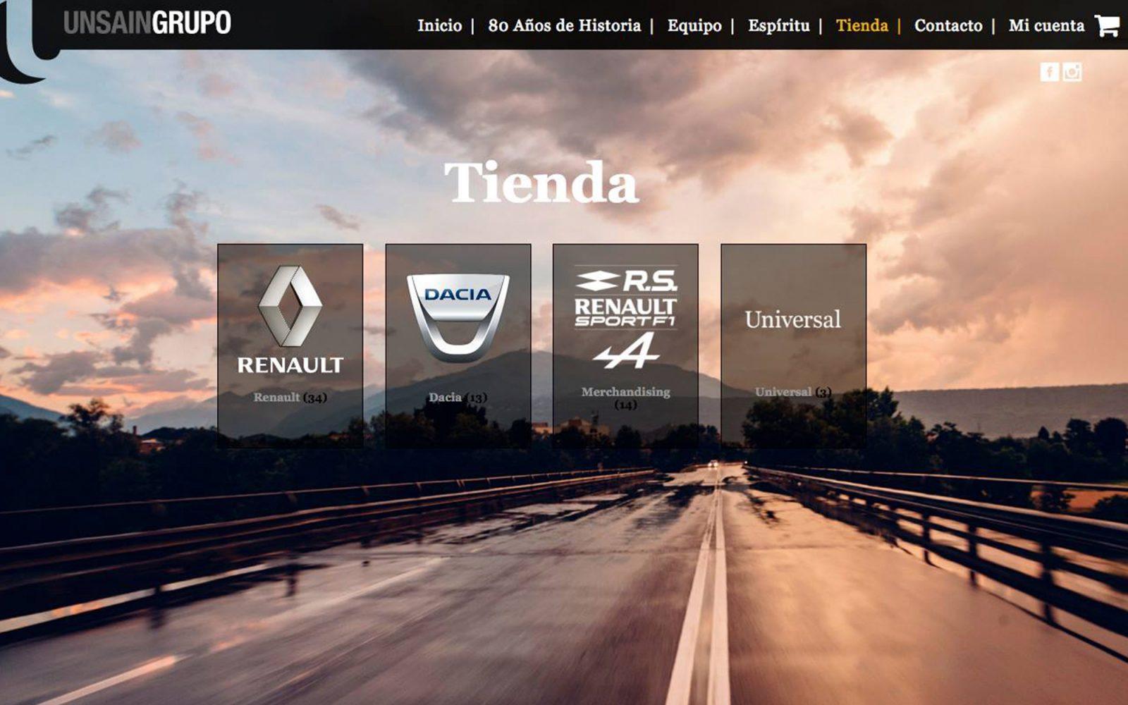 Tienda online de Grupo Unsain