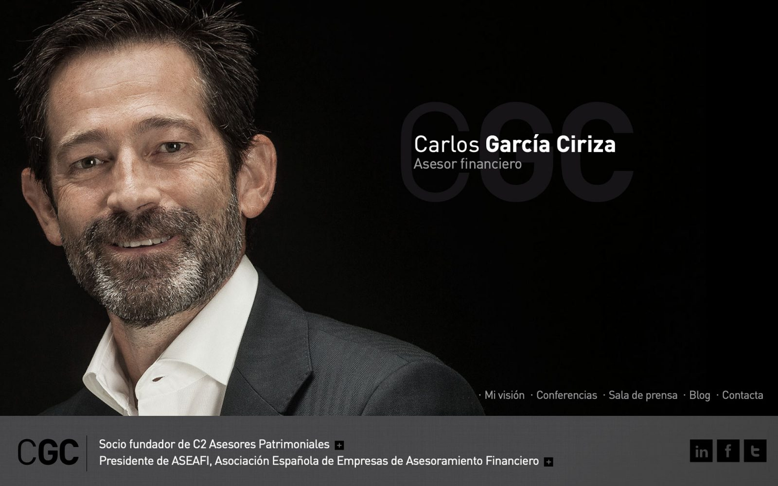 Marca y web de Carlos García de Ciriza