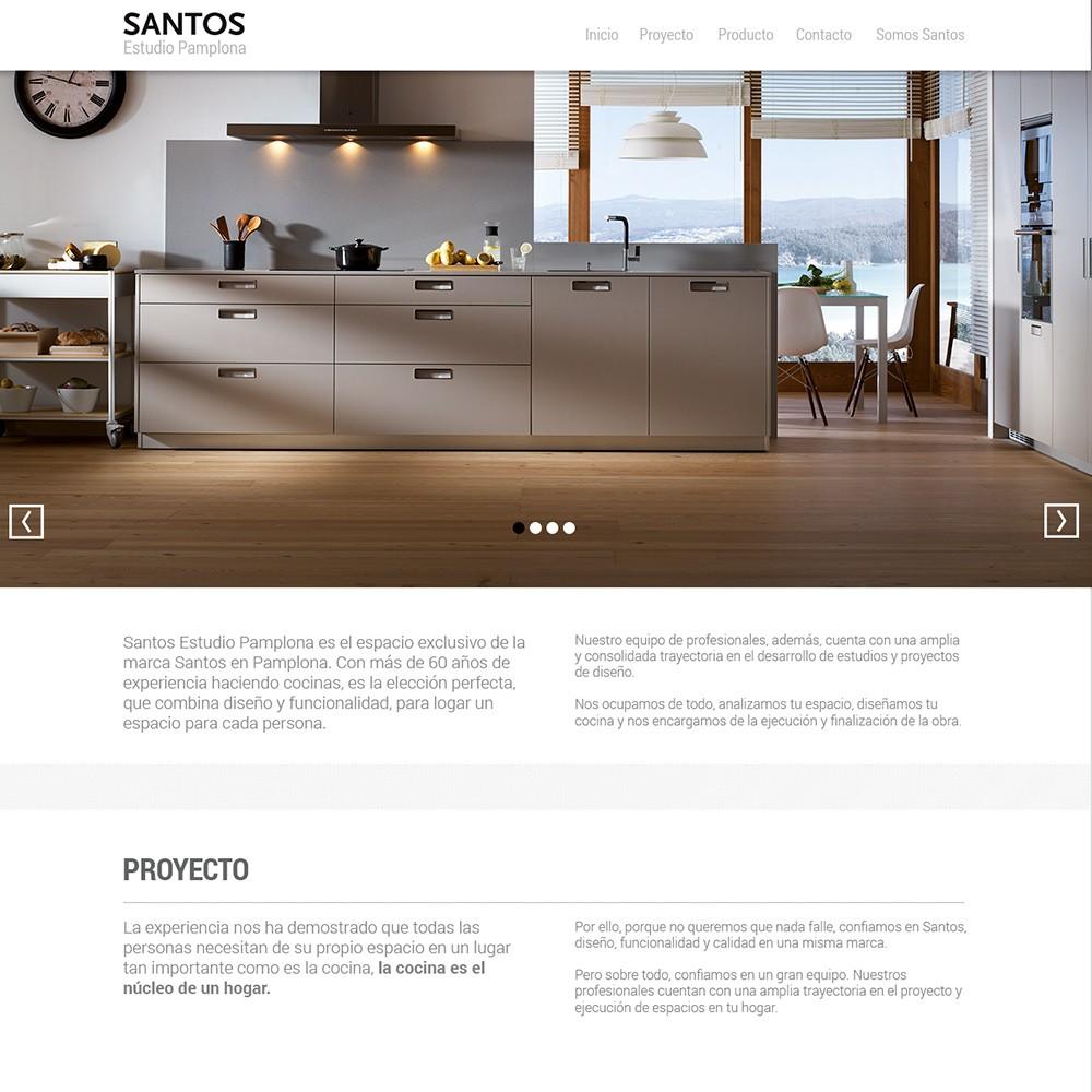 Web para Santos de Idenor