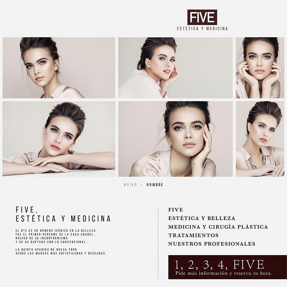 Marca y web de Five, estética y medicina