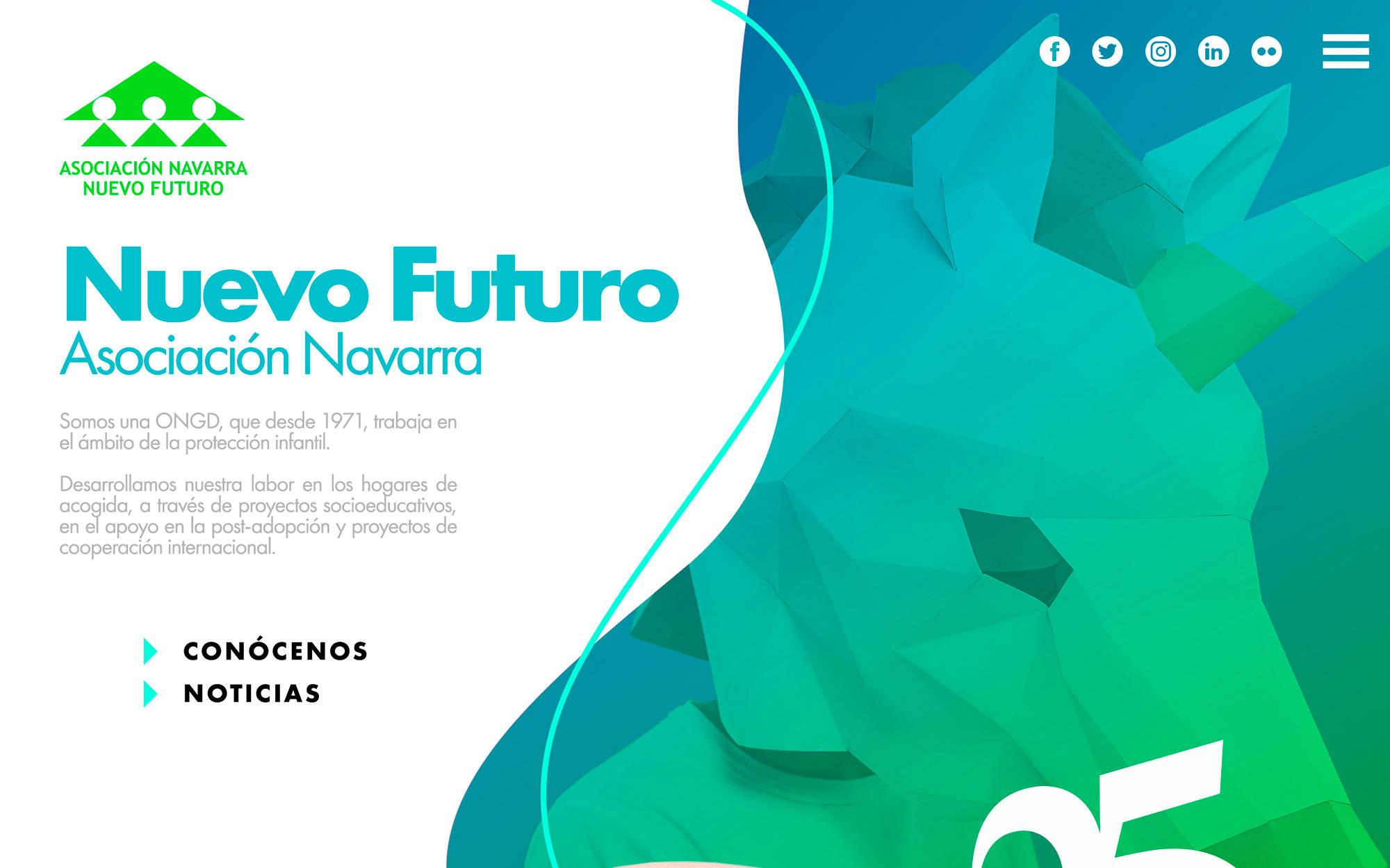 Página web para la Asociación Navarra Nuevo Futuro