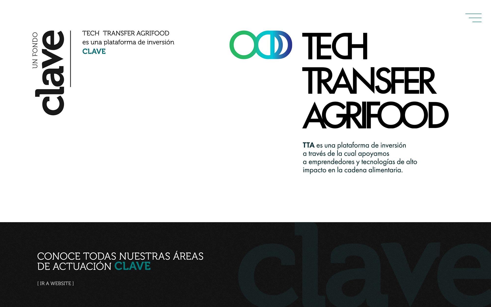 Web de Tech Transfer Agrifood para Clave